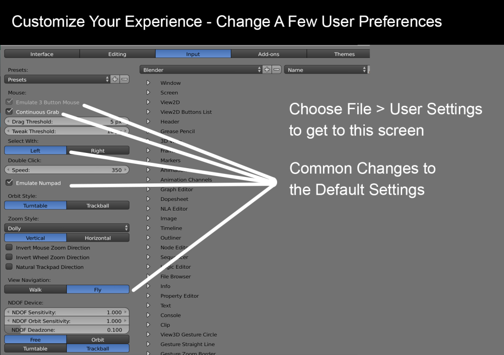 User Preferences 1